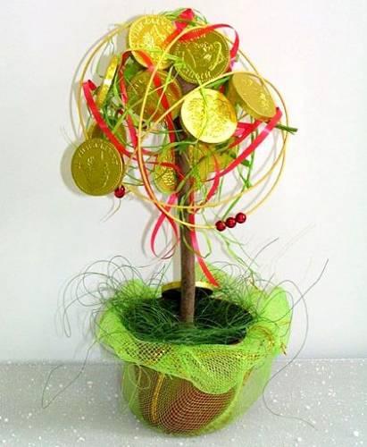 Поделки дерево из конфет
